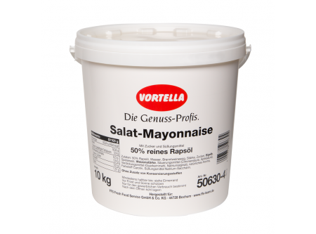 Salat-Mayonnaise 50 % reines Rapsöl Mit Zucker und Süßungsmittel