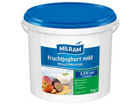 Joghurt mild mit 6 % Pfirsich Maracuja 3,5 % Fett im Milchanteil