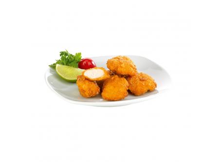 Chicken Crunchies Hähnchen Knusperstücke, mit Flüssigwürze, gegart, mit Cornflakespanade