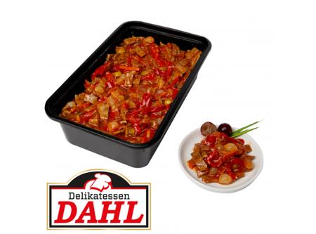 Teufels-Salat mit Rindfleischstücken