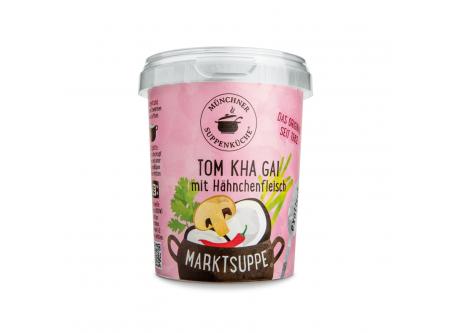 Marktsuppe Tom Kha Gai mit Hähnchenfleisch