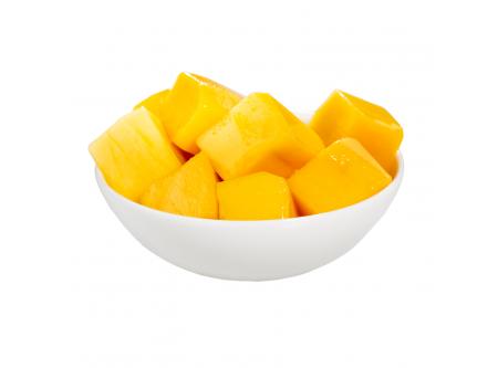 Mangowürfel mit Aufguss