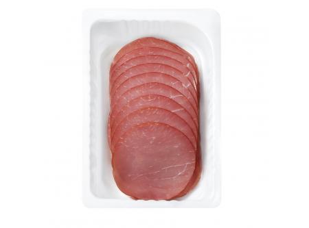 Delikatess Lachsschinken, gepökelt und geräuchert