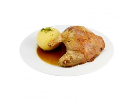 Barbarie-Entenkeulen in brauner Sauce, gegart