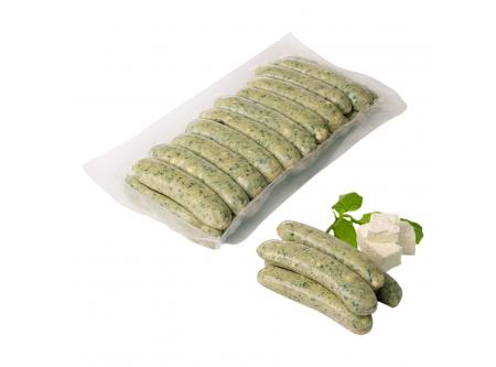 Grillido Mini Grillies Spinatico HÄhnchenbratwurst mit Blattspinat und Hirtenkäse