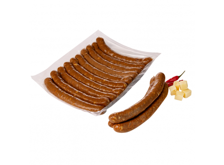 Grillido Bratwurst Smoky Beef Geräucherte Rinderwurst mit Käse und Chili