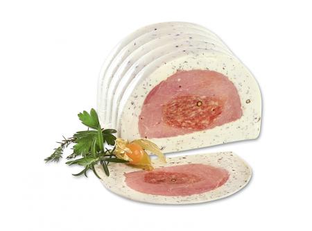 """""""La Provence"""" Gefüllter Schweinelachs mit einem Mantel aus Frischkäsezubereitung"""