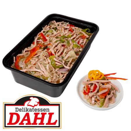 Bunter Wurst-Salat mit Kräutern