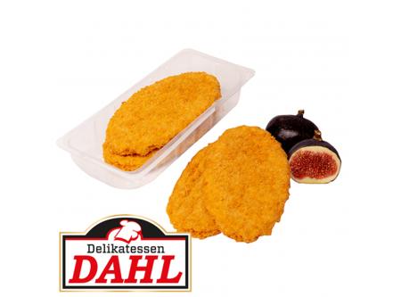Hähnchenschnitte Gebratenes Hähnchenformfleisch aus Hähnchenfleisch zusammengefügt, gewürzt und gebraten