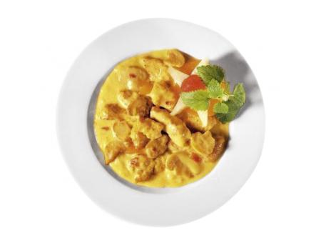 Putengeschnetzeltes in Currysauce