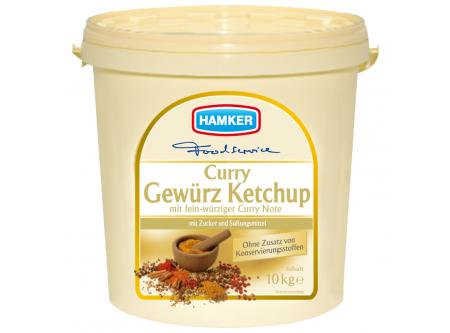 Curry Gewürz Ketchup mit Zucker und Süßungsmittel
