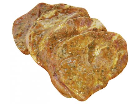 Schweinenackensteaks Kräuter