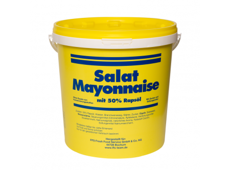 Salat Mayonnaise 50 % Rapsöl mit Zucker und Süßungsmittel