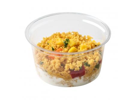 BIO Cous Cous Salat mit Mango und Joghurt