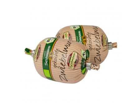BIO gekochte Zwiebelwurst