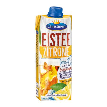 Quick Drink Eistee Zitrone, mit Zucker und Süßungsmittel
