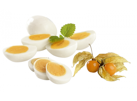 Eier, gekocht und geschält