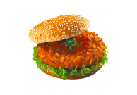 Crunchy Chik'n Burger, paniert, mit 8 % Flüssigwürzung