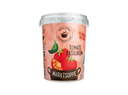 Marktsuppe Tomate Basilikum
