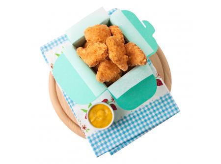 Hähnchen Form-Nuggets im Backteig gegart, vorgebraten