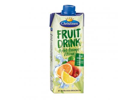 Quick Drink Apfel Orange Zitrone, Erfrischungsgetränk, mit Zucker und Süßungsmittel
