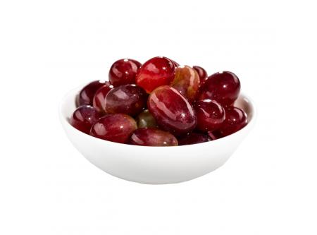 Weintrauben blau mit Aufguss