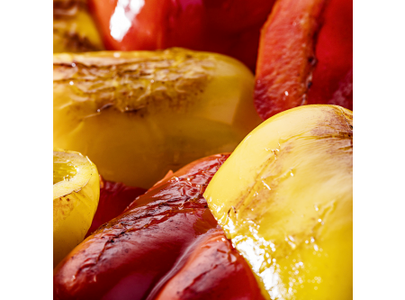Paprika rot/gelb, gegrillt
